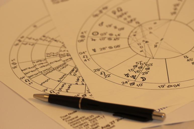 Astrologische Berechnungen auf Papier